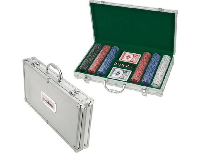 300pcs Poker Chips Set in Aluminum case